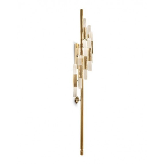 Waterfall Torch Wall lamp Luxxu gold color front view