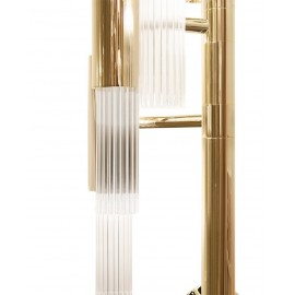 Waterfall Torch Wall lamp Luxxu gold color with detail