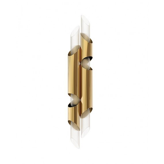 Draycott II Wall Lamp Luxxu brass color front view