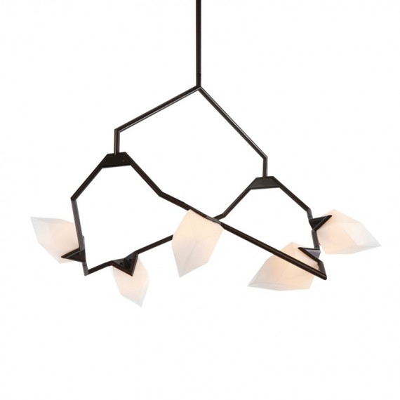 Seed 02 pendant lamp Roll & Hill black color front view