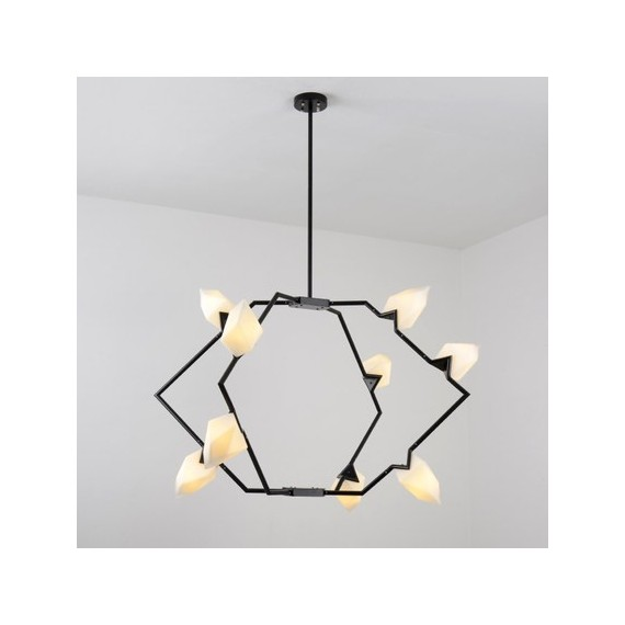 Seed 01 pendant lamp Roll & Hill black color front view