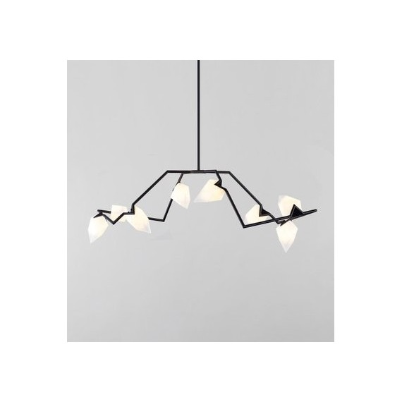 Seed 04 pendant lamp Roll & Hill black color front view