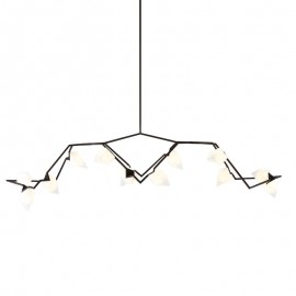 Seed 03 pendant lamp Roll & Hill black color front view