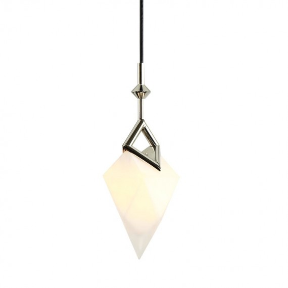Seed single pendant lamp Roll & Hill black color front view