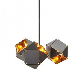 Welles Spoke pendant lamp GABRIEL SCOTT black color front view