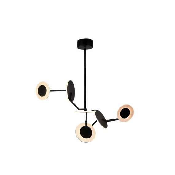 Disco LED pendant lamp James Dieter black color 6 ligths model A front view