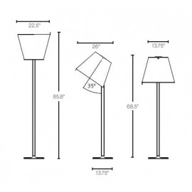 Melampo Mega floor lamp grey color with detail