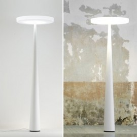 Equilibre Fluo F3 floor lamp Prandina white color front view