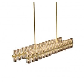 RH ARCACHON LINEAR CHANDELIER Restoration Hardware brass color 1