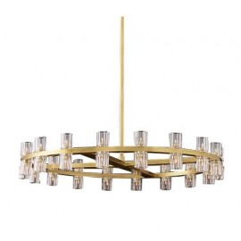 RH ARCACHON ROUND CHANDELIER Restoration Hardware brass color 1