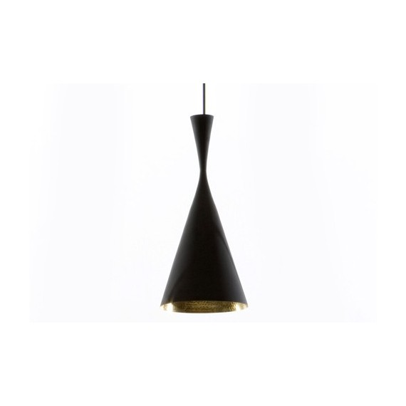 Beat pendant lamp black Tom Dixon tall front view