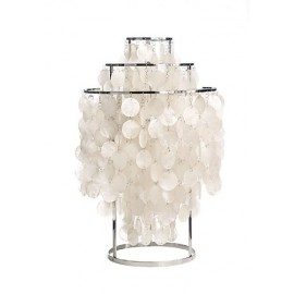 Fun 1 TM table lamp Verpan pearl white / chrome color front view