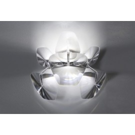 Hope wall lamp Luceplan transparent color front view