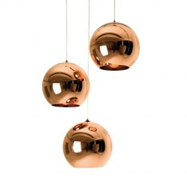 Copper Shade pendant lamp Tom Dixon copper color front view