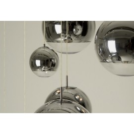 Mirror ball pendant lamp Tom Dixon silver color Diam 20cm