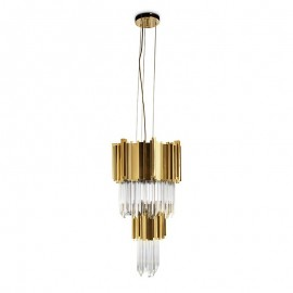 Empire pendant lamp Luxxu brass/nickel color front view
