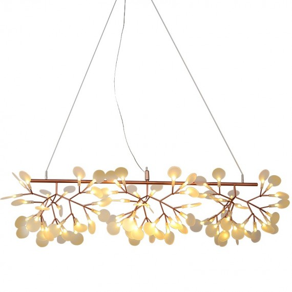 Heracleum LED pendant lamp Long Moooi copper color front view