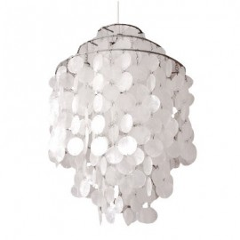 Verpan Fun 1DM pendant lamp pearl white color Diam 26cm