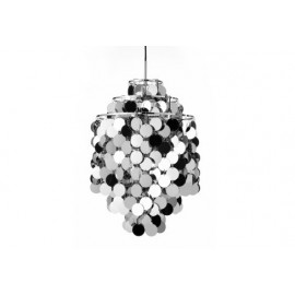 Fun 1DA pendant lamp Verpan chrome color front view