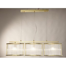 Stilio pendant lamp Linear Licht im Raum gold color back view