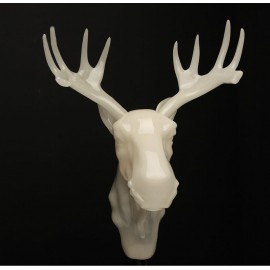 Wall lamp moo Northern lighting white color front view