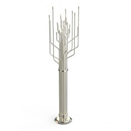 JANIS floor lamp Delightfull nickel color front view