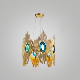 VIVRE LED Chandelier Koket gold color S back view