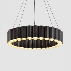 Carousel LED pendant lamp Lee Broom black color front view