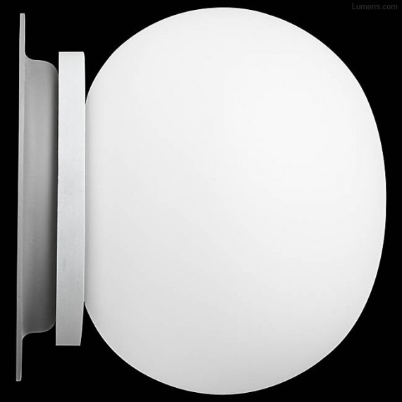 Glo Ball Mini wall/ceiling lamp Flos white color front view