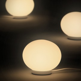 Glo Ball Mini wall/ceiling lamp Flos white color back view