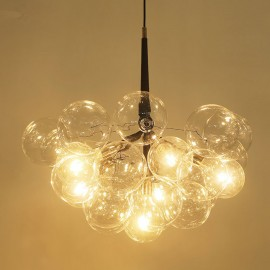 X-Large BUBBLE CHANDELIER PELLE black color side view