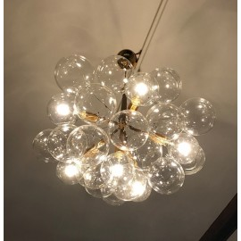 Jumbo 29 BUBBLE CHANDELIER PELLE black color back view