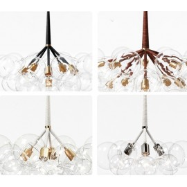 ORIGINAL BUBBLE CHANDELIER PELLE brass color / nickel color / black color with detail