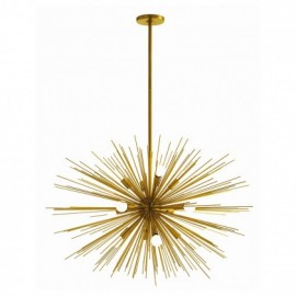 Zanadoo chandelier Arteriors brass color front view