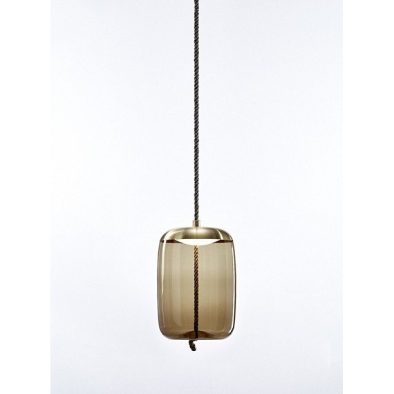 Knot Cilindro LED pendant lamp Brokis smoke color front view