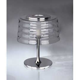 C'hi table lamp Penta transparent color front view