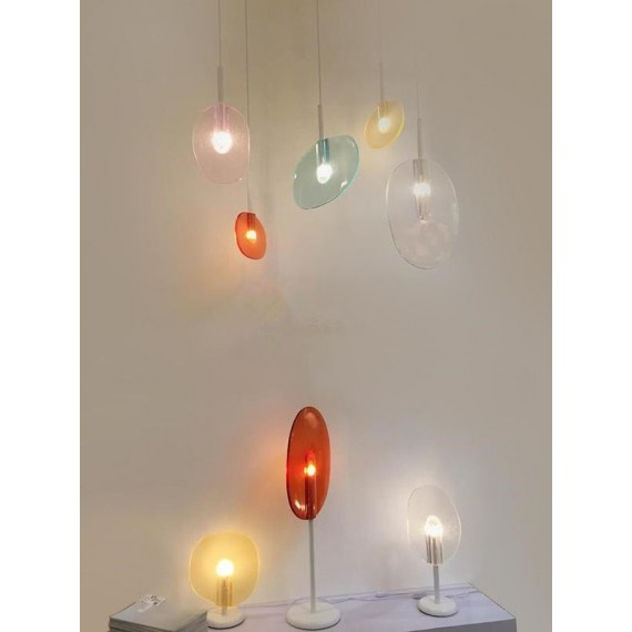 Lollipop LED pendant lamp Lasvit orange color / pink color / purple color / turquoise color back view