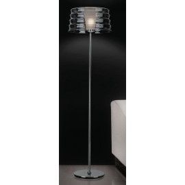 C'hi floor lamp Penta transparent color S front view