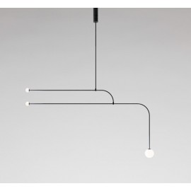 Mobile Chandelier 12 Michael Anastassiades black color front view