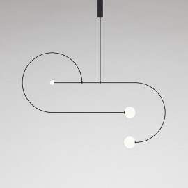 Mobile Chandelier 13 Michael Anastassiades black color front view