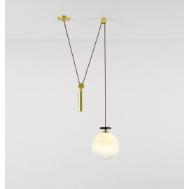 Shape Up Pendant lamp Globe Roll & Hill white color side view