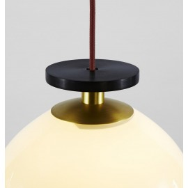 Shape Up Pendant lamp Globe Roll & Hill white color with detail