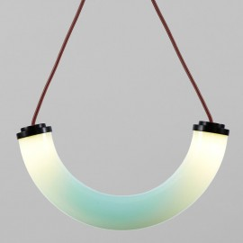 Shape Up Pendant lamp Cylinder Roll & Hill white color with detail