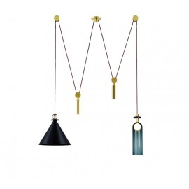 Shape Up Pendant lamp Double cone+cylinder