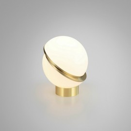 Crescent LED table lamp Lee Broom white color side view