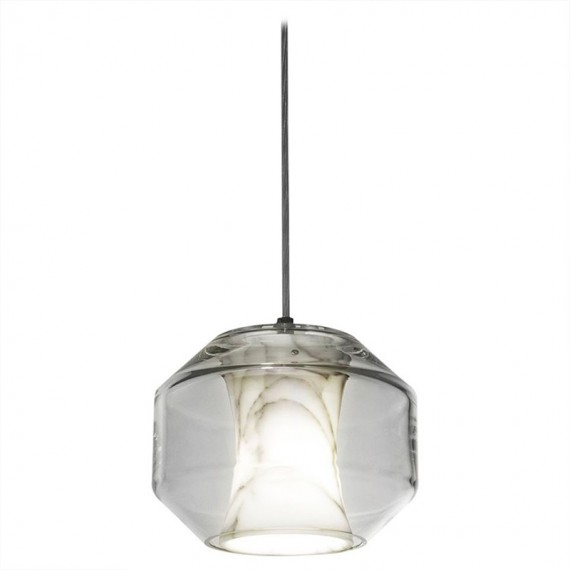 Chamber pendant lamp Lee Broom white color S front view