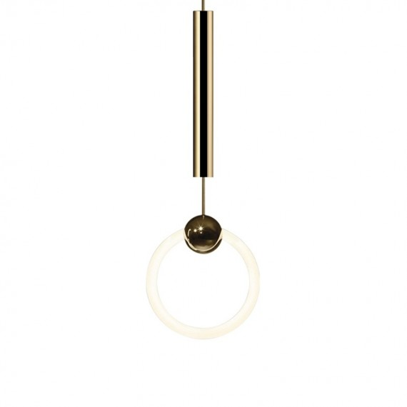 RING pendant lamp Lee Broom gold color 1 light front view
