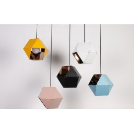 Welles Single pendant lamp GABRIEL SCOTT black color / white color / pink color / blue color / yellow color S side view