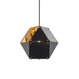 Welles Single pendant lamp GABRIEL SCOTT black color front view