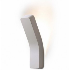 Platone wall lamp Prandina white color front view
